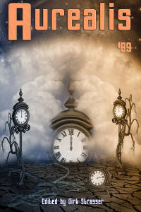 Aurealis #89 cover clocks