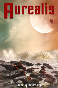 Aurealis #91 cover rocks with large moon SH