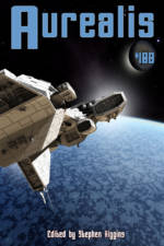 Aurealis #108 cover Spaceship above ice planet