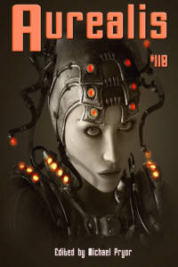 Aurealis #110 cover Woman with lights