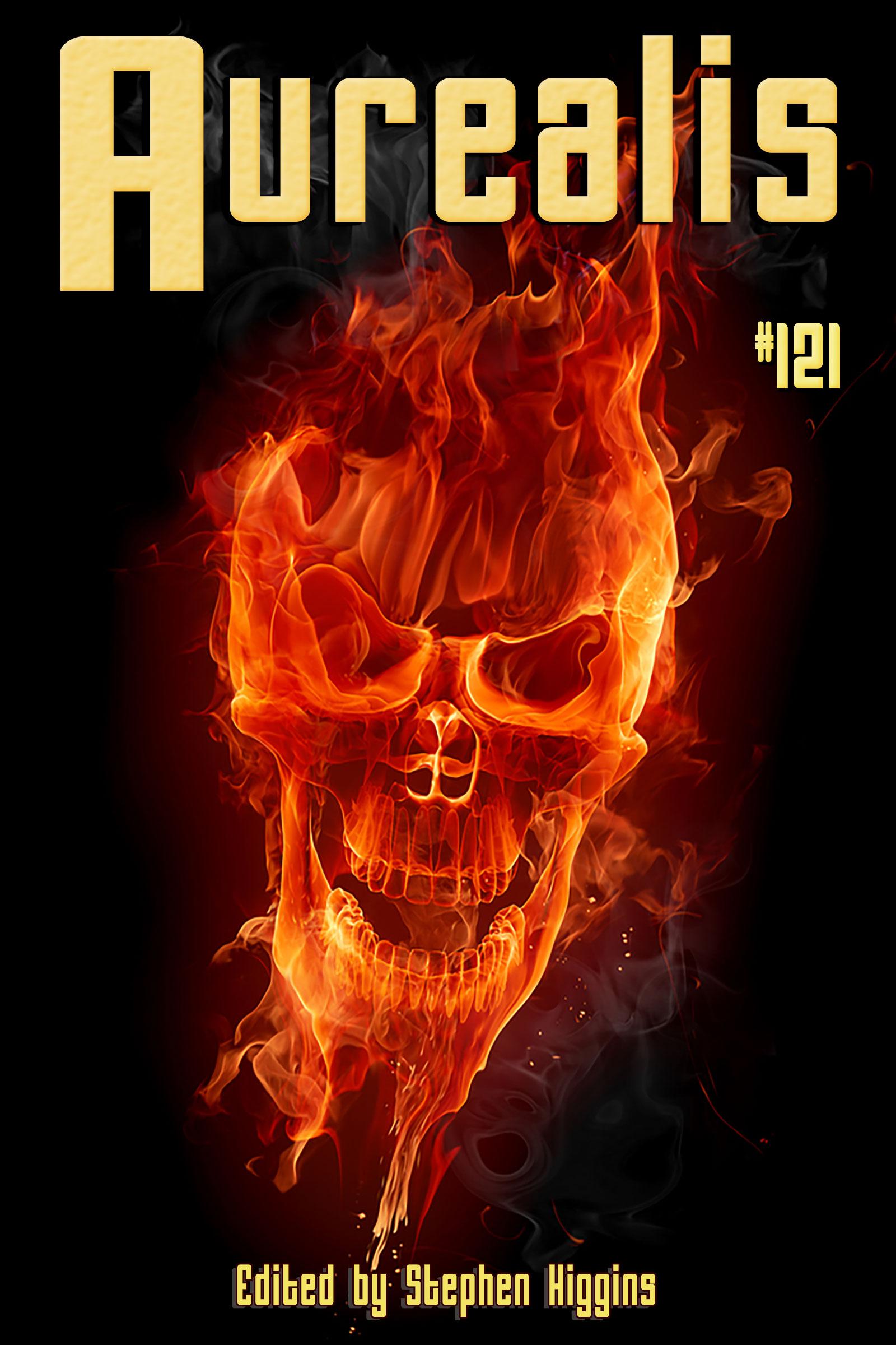 Aurealis #121 cover flame skull SH
