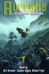Aurealis #132 cover Kea birds by Emma Weakley ALL EDITORS